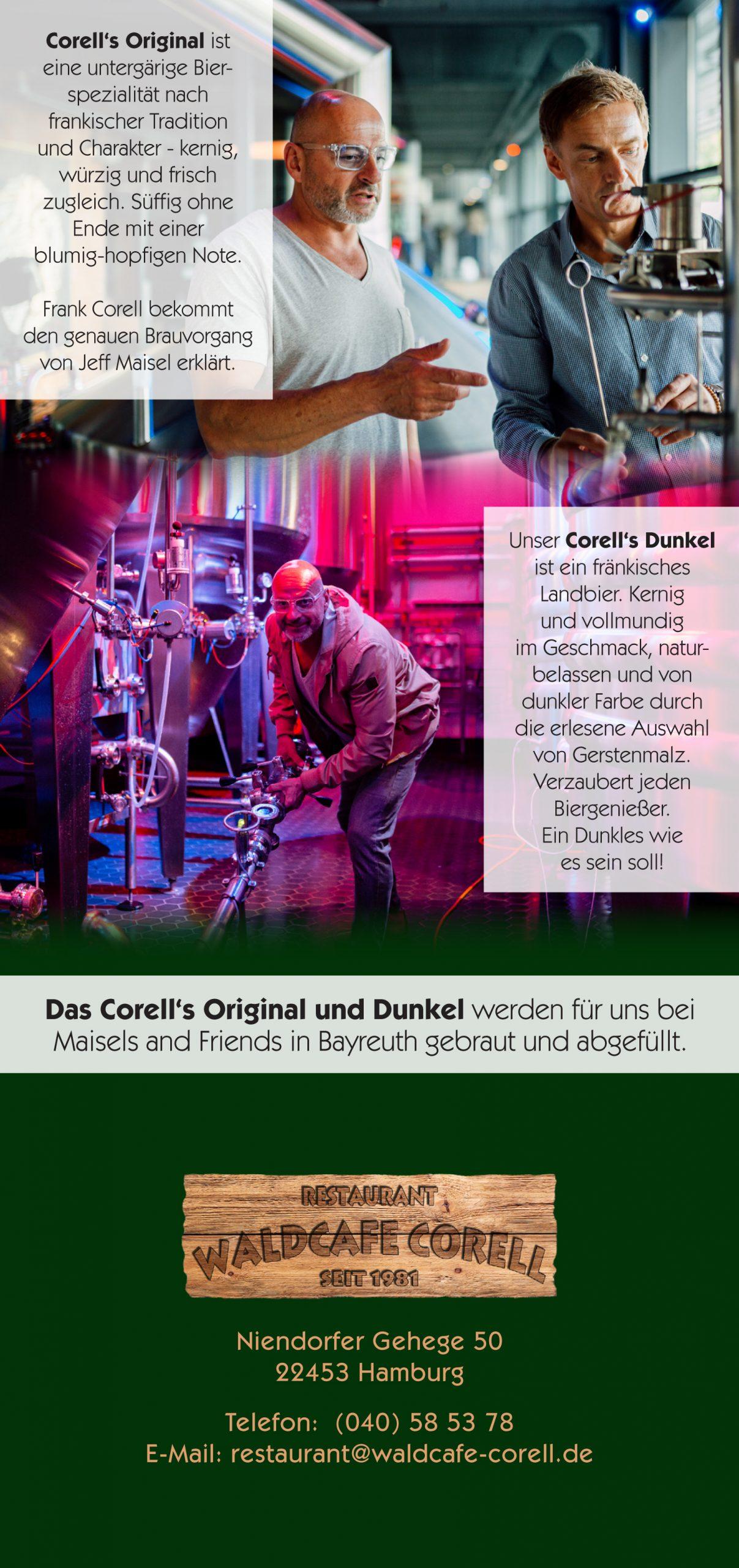 Bier, Corell's Original und Dunkel