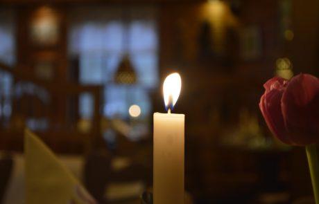 Restaurant Waldcafe Corell, Kerzenlicht